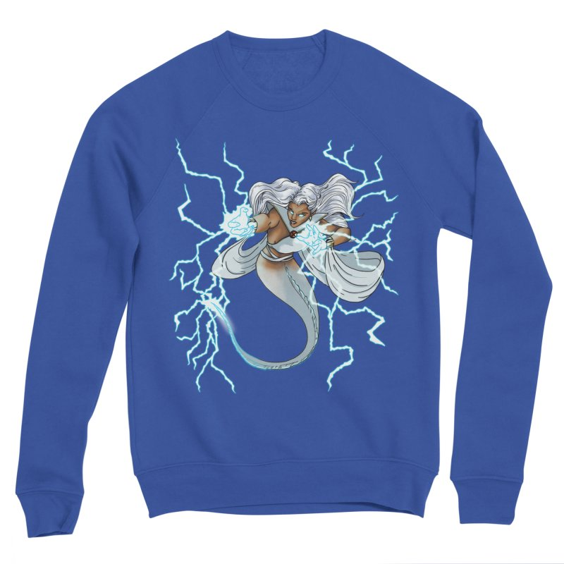 Thunderwater Men's Sponge Fleece Sweatshirt by JordanaHeney Illustration