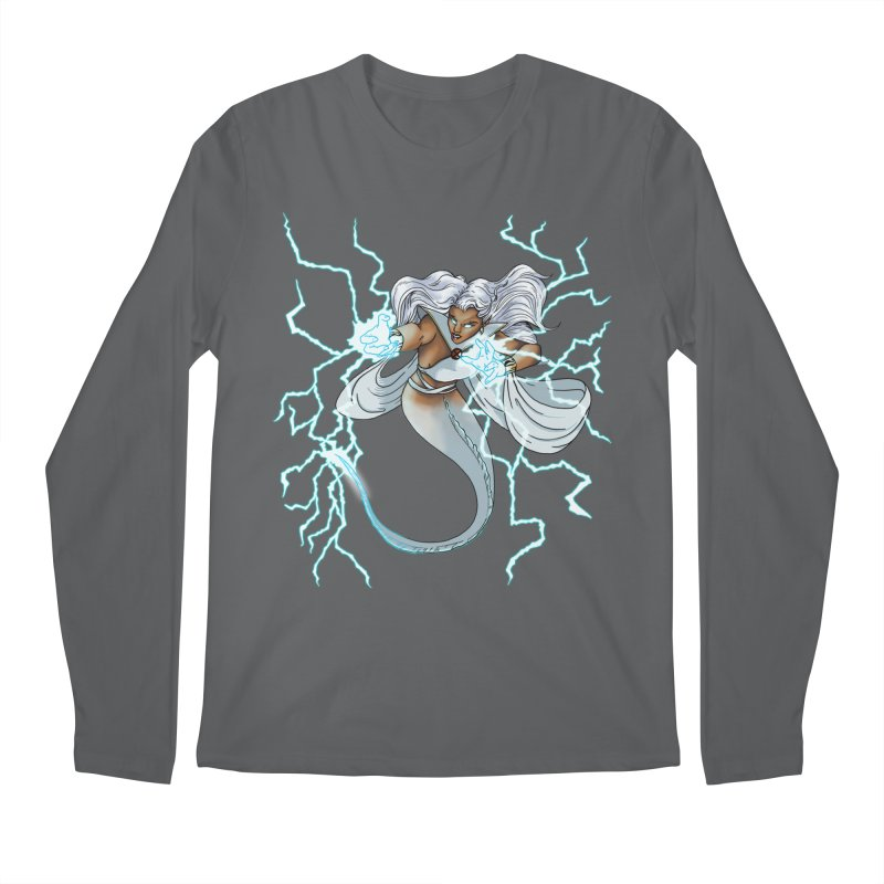 Thunderwater Men's Longsleeve T-Shirt by JordanaHeney Illustration