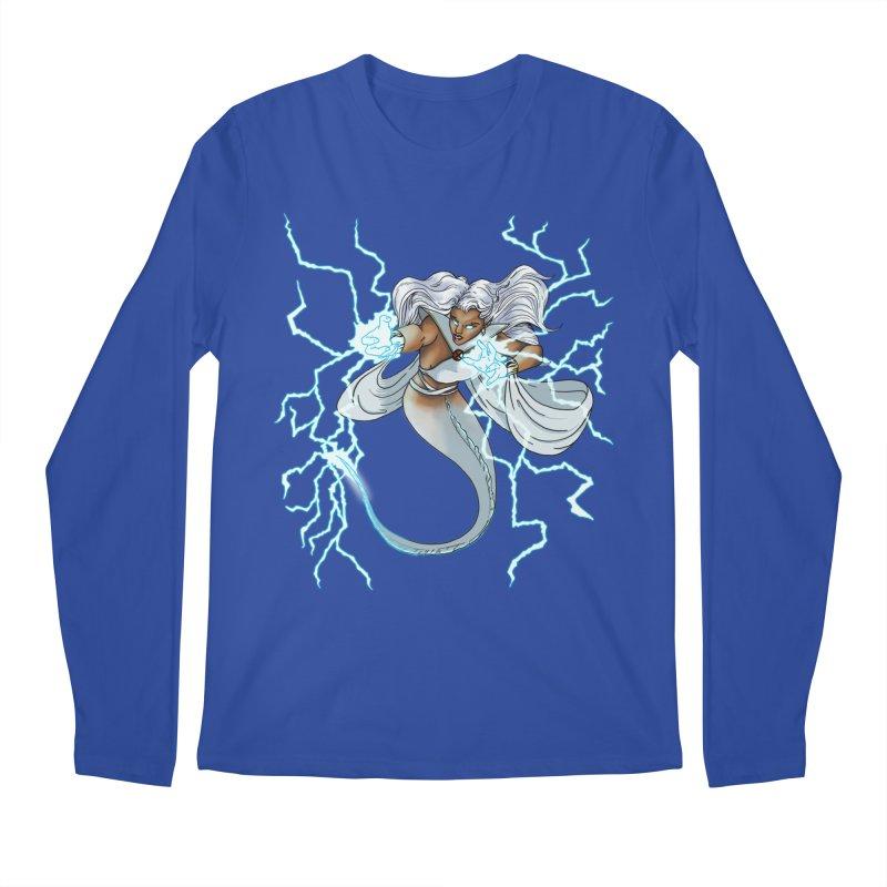 Thunderwater Men's Regular Longsleeve T-Shirt by JordanaHeney Illustration