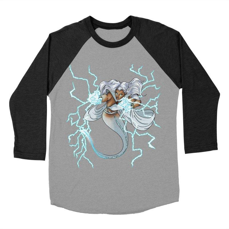 Thunderwater Women's Baseball Triblend Longsleeve T-Shirt by JordanaHeney Illustration