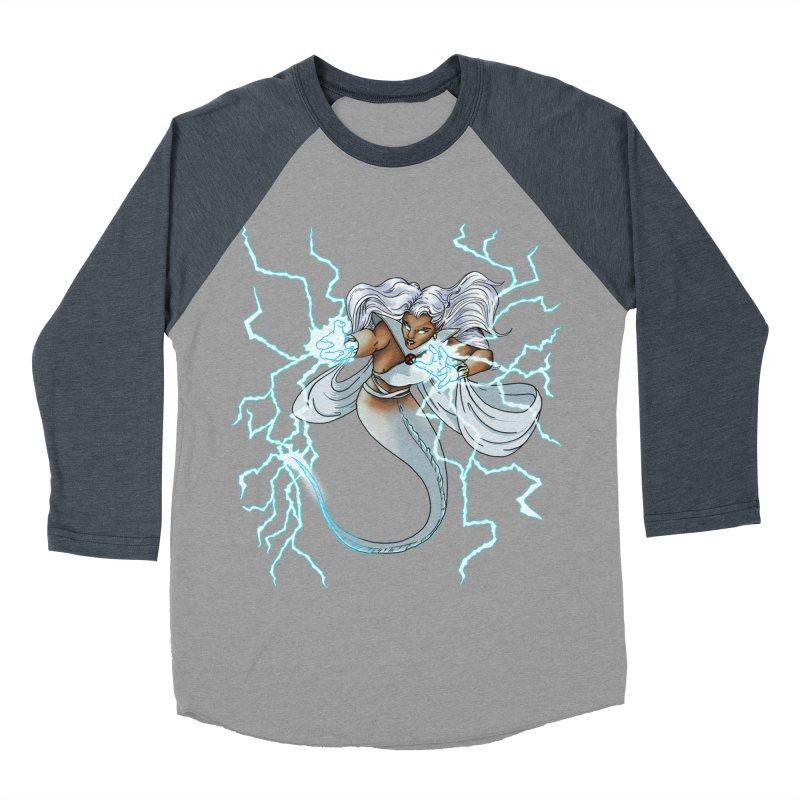 Thunderwater Men's Baseball Triblend Longsleeve T-Shirt by JordanaHeney Illustration