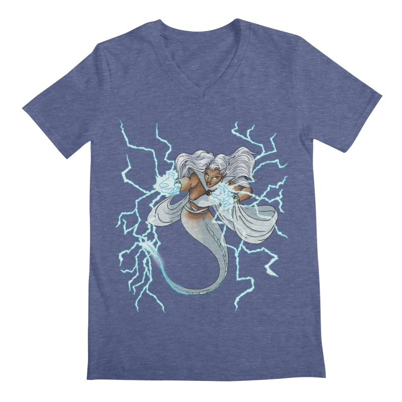 Thunderwater Men's Regular V-Neck by JordanaHeney Illustration