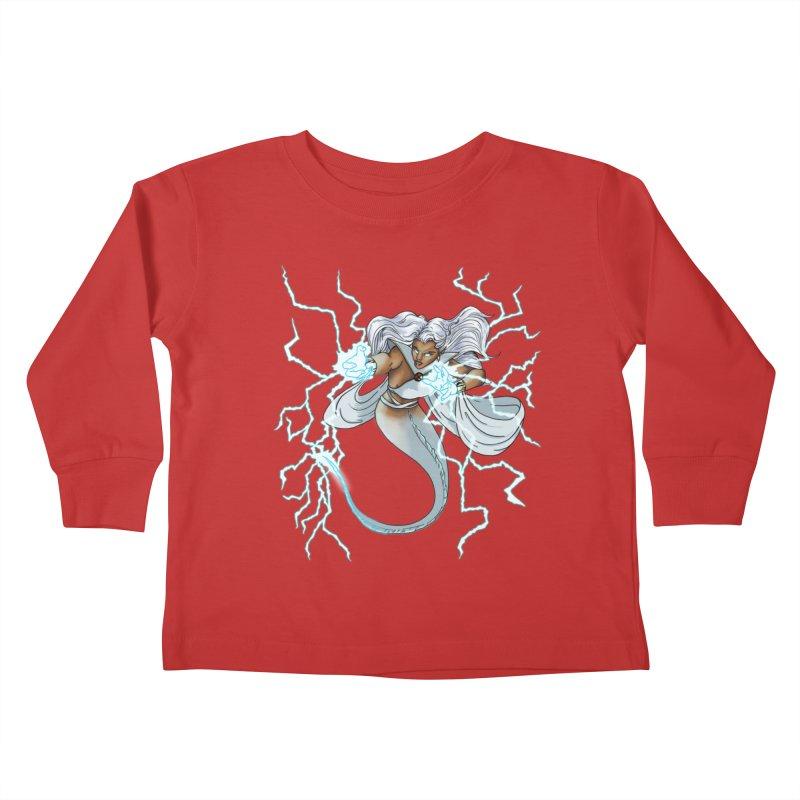 Thunderwater Kids Toddler Longsleeve T-Shirt by JordanaHeney Illustration