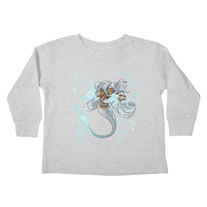Thunderwater Kids Toddler Longsleeve T-Shirt by JordanaHeney Illustration