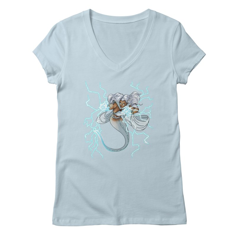 Thunderwater Women's Regular V-Neck by JordanaHeney Illustration