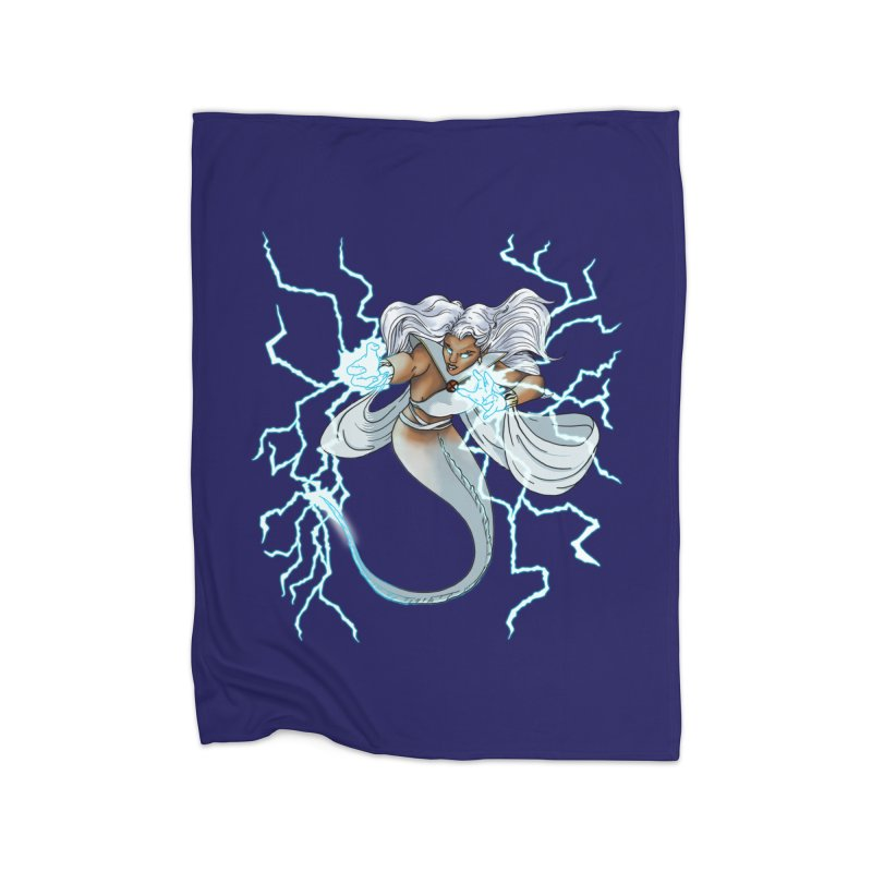 Thunderwater Home Fleece Blanket Blanket by JordanaHeney Illustration