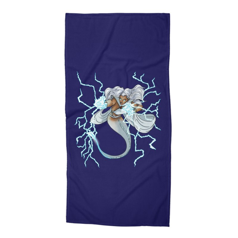 Thunderwater Accessories Beach Towel by JordanaHeney Illustration