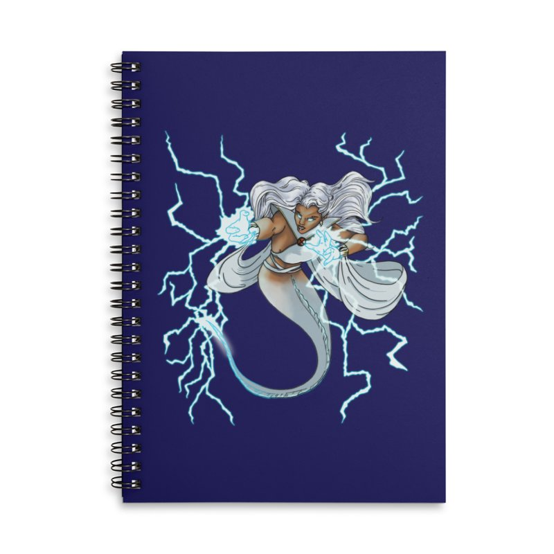 Thunderwater Accessories Lined Spiral Notebook by JordanaHeney Illustration