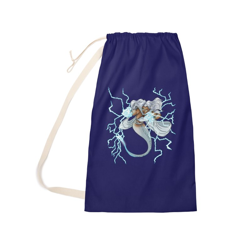 Thunderwater Accessories Laundry Bag Bag by JordanaHeney Illustration