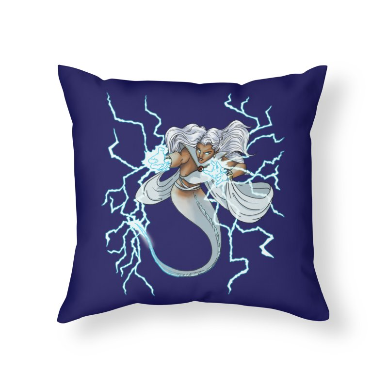 Thunderwater Home Throw Pillow by JordanaHeney Illustration