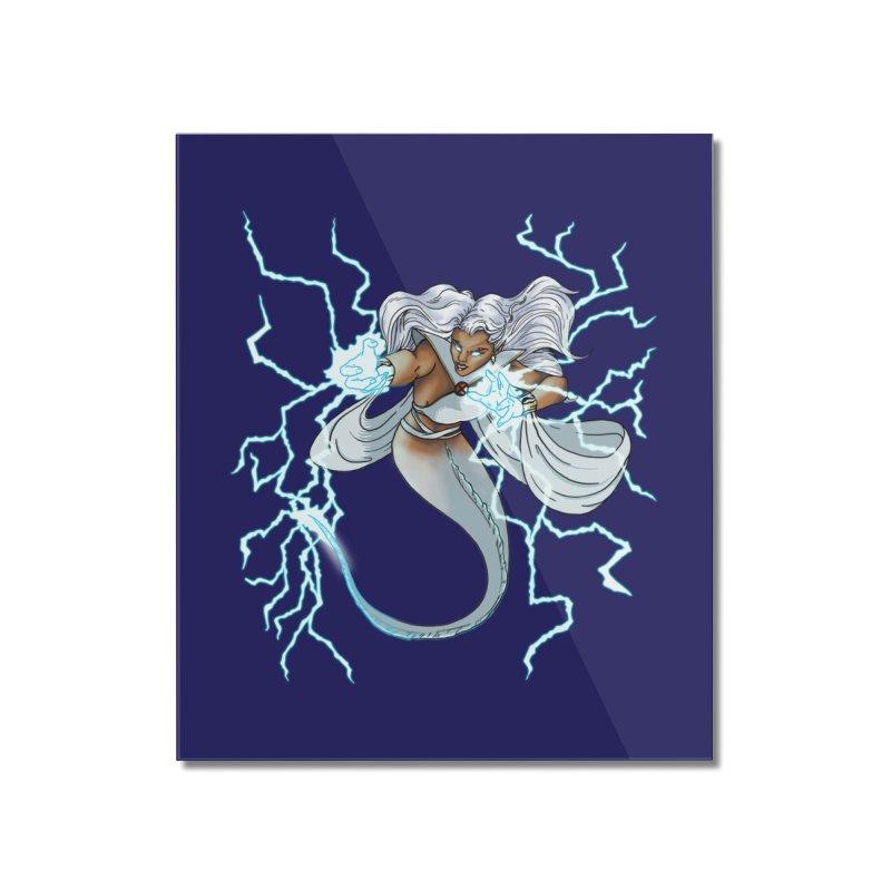 Thunderwater Home Mounted Acrylic Print by JordanaHeney Illustration