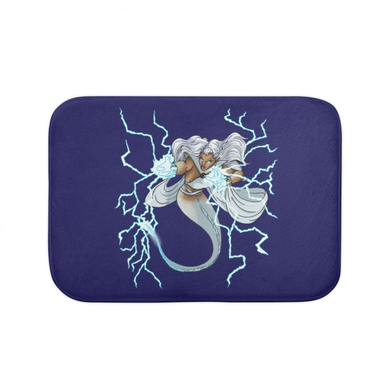 Thunderwater Home Bath Mat by JordanaHeney Illustration