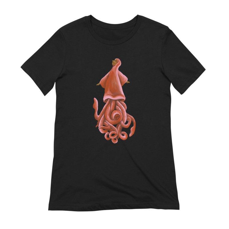Squid Maiden Women's Extra Soft T-Shirt by JordanaHeney Illustration