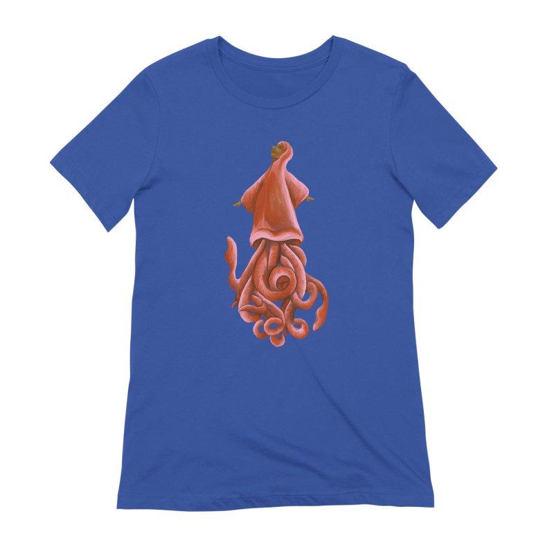 Squid Maiden Women's T-Shirt by JordanaHeney Illustration
