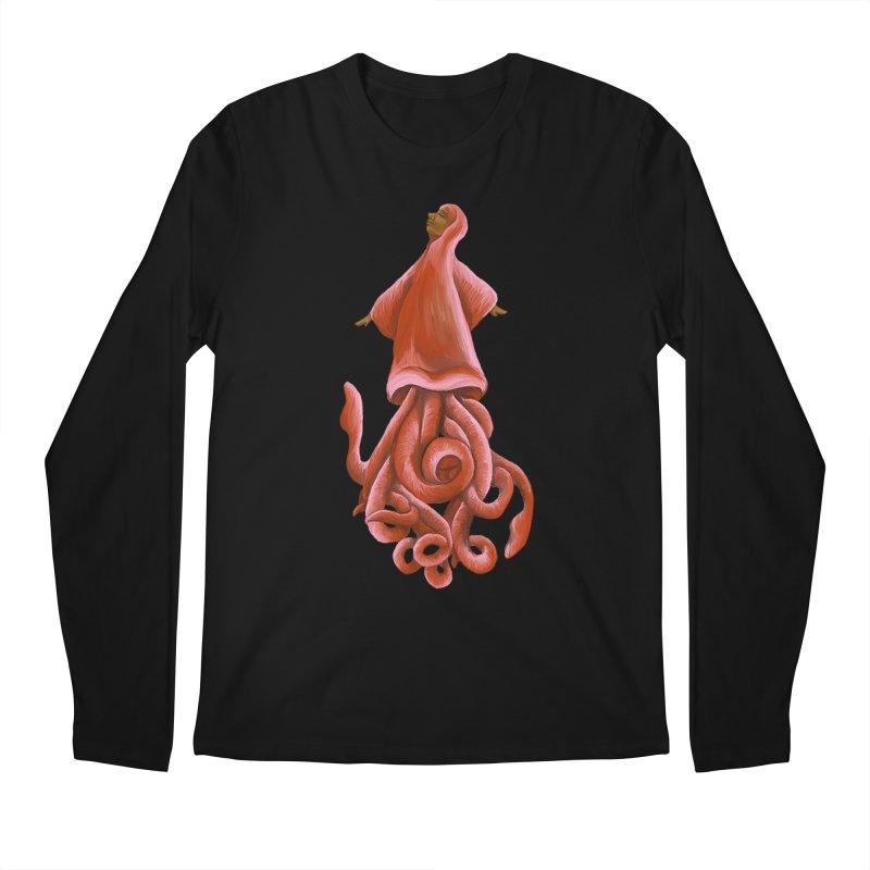 Squid Maiden Men's Regular Longsleeve T-Shirt by JordanaHeney Illustration
