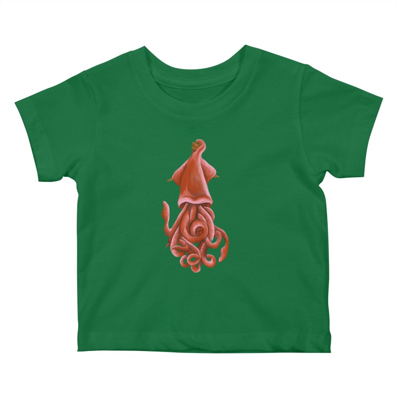 Squid Maiden Kids Baby T-Shirt by JordanaHeney Illustration