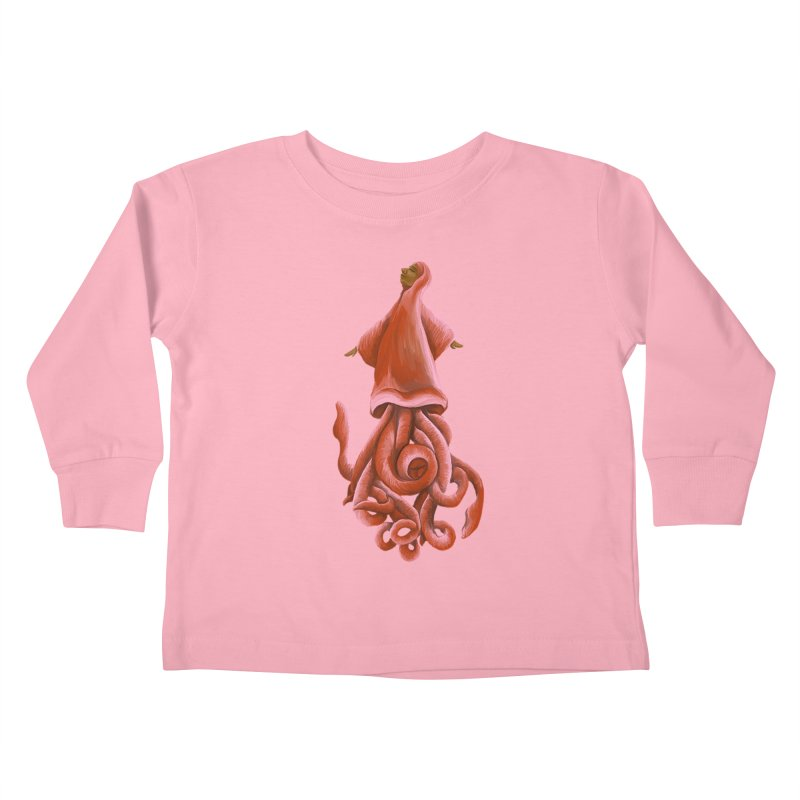 Squid Maiden Kids Toddler Longsleeve T-Shirt by JordanaHeney Illustration