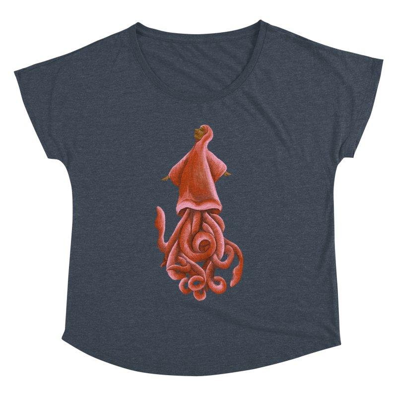 Squid Maiden Women's Dolman Scoop Neck by JordanaHeney Illustration