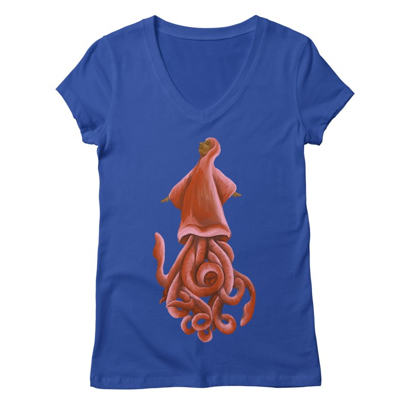 Squid Maiden Women's Regular V-Neck by JordanaHeney Illustration