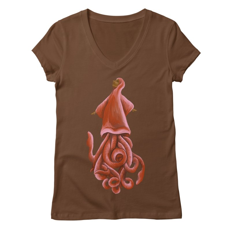 Squid Maiden Women's Regular V-Neck by JordanaHeney Illustration