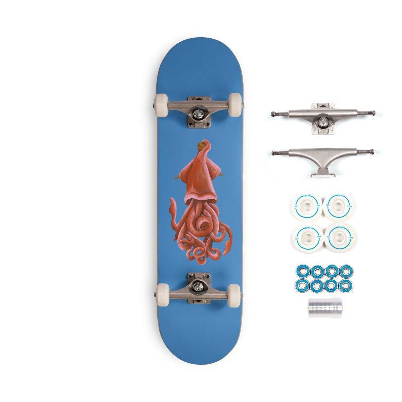 Squid Maiden Accessories Complete - Basic Skateboard by JordanaHeney Illustration