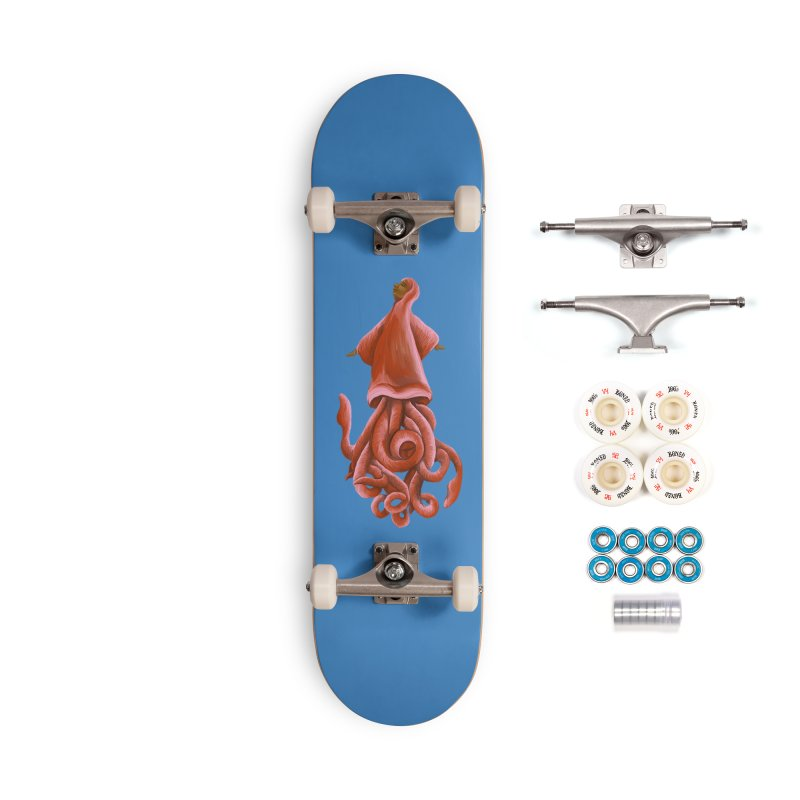 Squid Maiden Accessories Complete - Premium Skateboard by JordanaHeney Illustration
