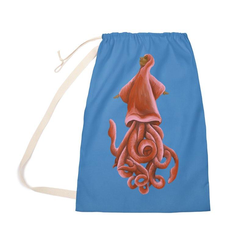 Squid Maiden Accessories Bag by JordanaHeney Illustration