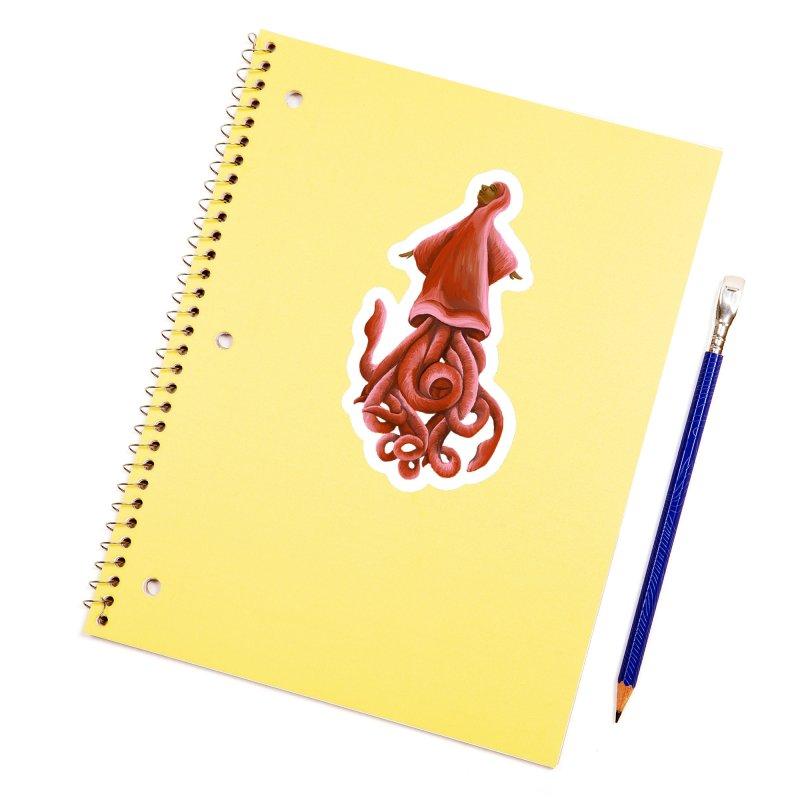 Squid Maiden Accessories Sticker by JordanaHeney Illustration