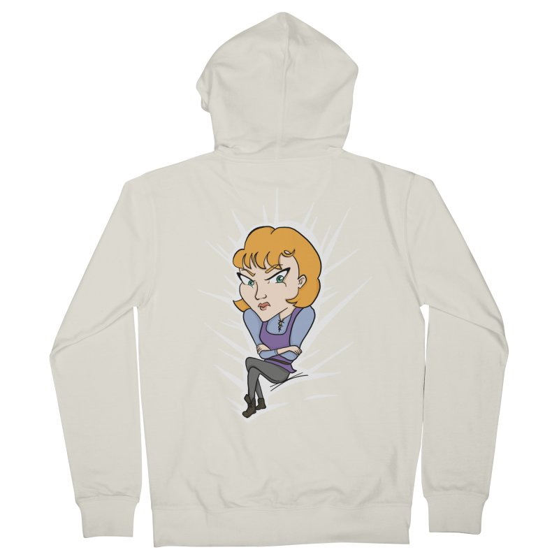 Sharp Women's French Terry Zip-Up Hoody by JordanaHeney Illustration