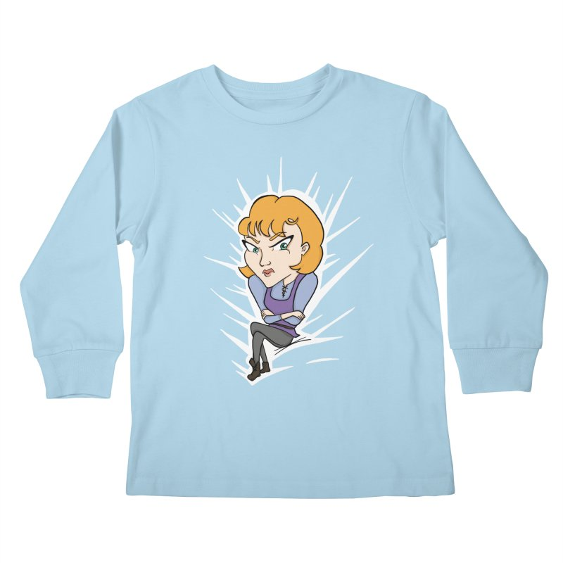 Sharp Kids Longsleeve T-Shirt by JordanaHeney Illustration