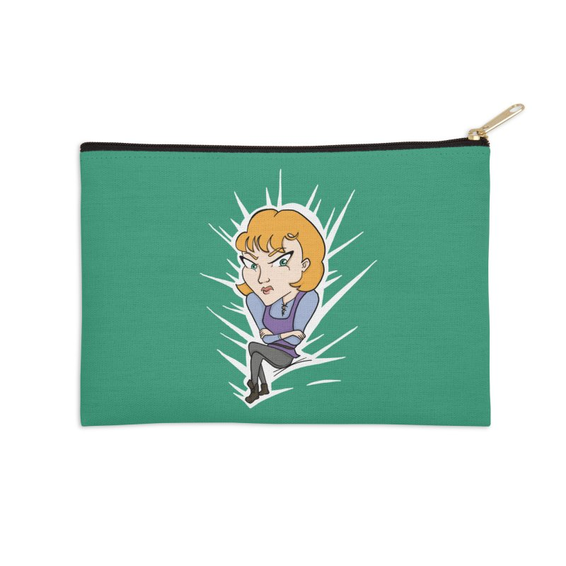 Sharp Accessories Zip Pouch by JordanaHeney Illustration