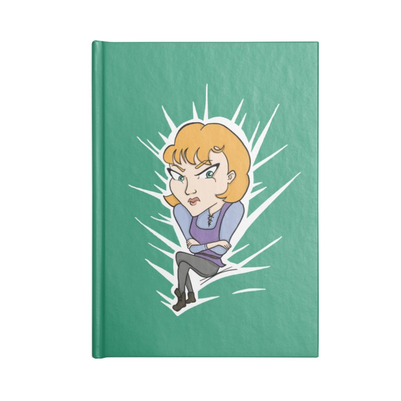 Sharp Accessories Blank Journal Notebook by JordanaHeney Illustration