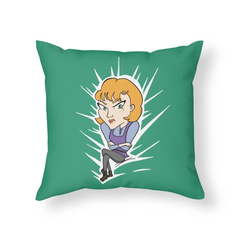 Sharp Home Throw Pillow by JordanaHeney Illustration