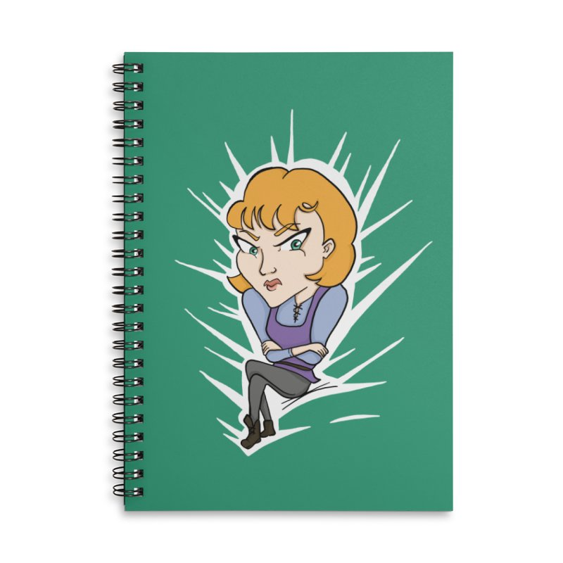 Sharp Accessories Lined Spiral Notebook by JordanaHeney Illustration