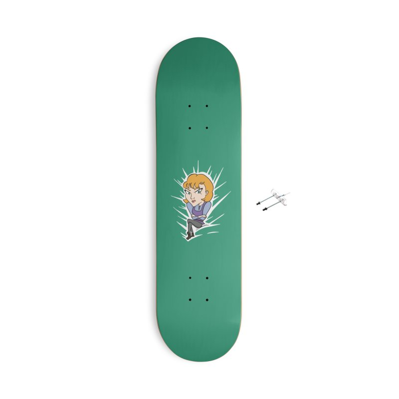 Sharp Accessories With Hanging Hardware Skateboard by JordanaHeney Illustration