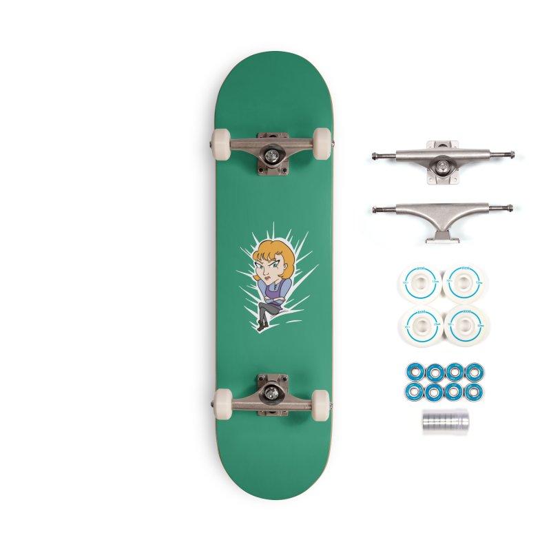 Sharp Accessories Skateboard by JordanaHeney Illustration