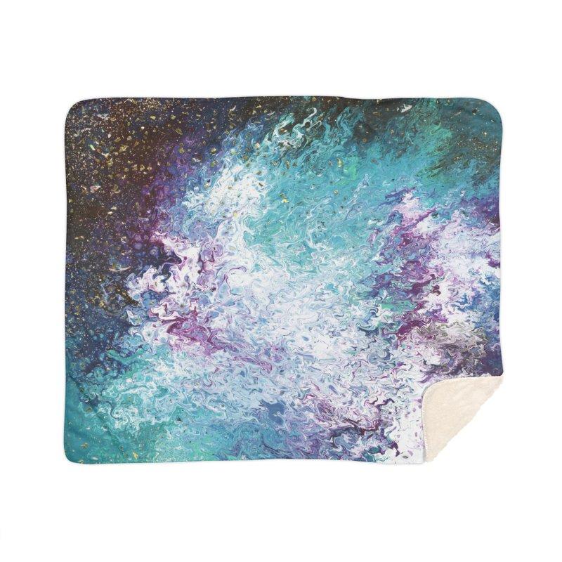 Galaxy Home Sherpa Blanket Blanket by JordanaHeney Illustration