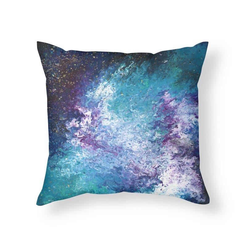 Galaxy Home Throw Pillow by JordanaHeney Illustration