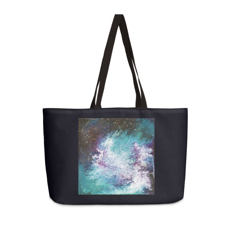 Galaxy Accessories Weekender Bag Bag by JordanaHeney Illustration