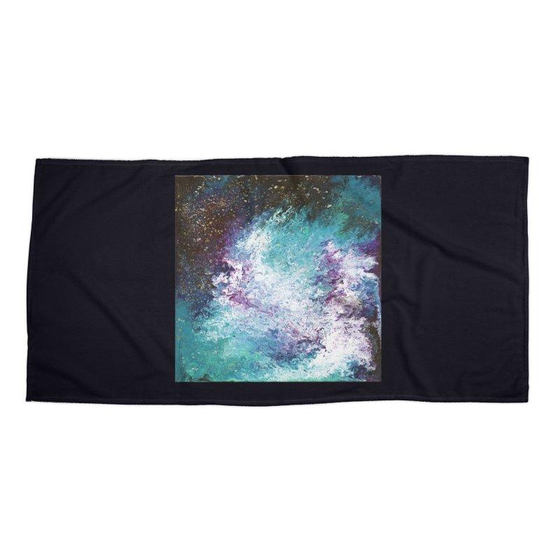 Galaxy Accessories Beach Towel by JordanaHeney Illustration