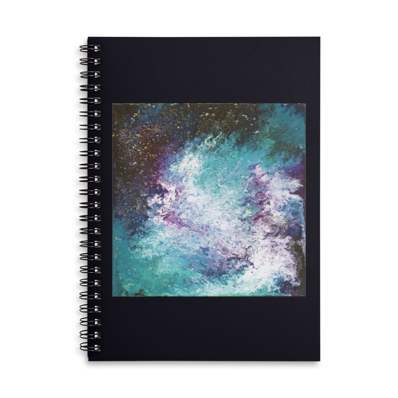 Galaxy Accessories Lined Spiral Notebook by JordanaHeney Illustration
