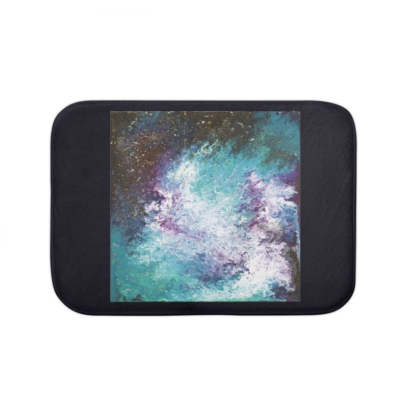 Galaxy Home Bath Mat by JordanaHeney Illustration