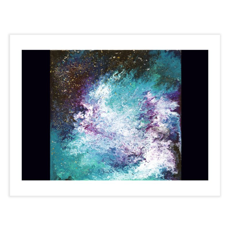 Galaxy Home Fine Art Print by JordanaHeney Illustration