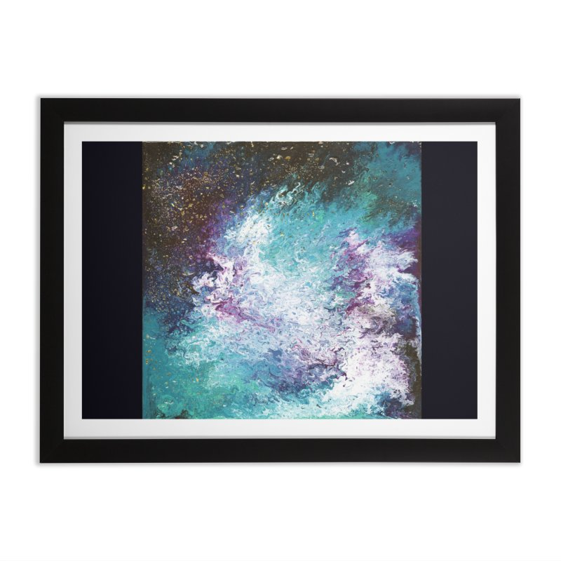 Galaxy Home Framed Fine Art Print by JordanaHeney Illustration