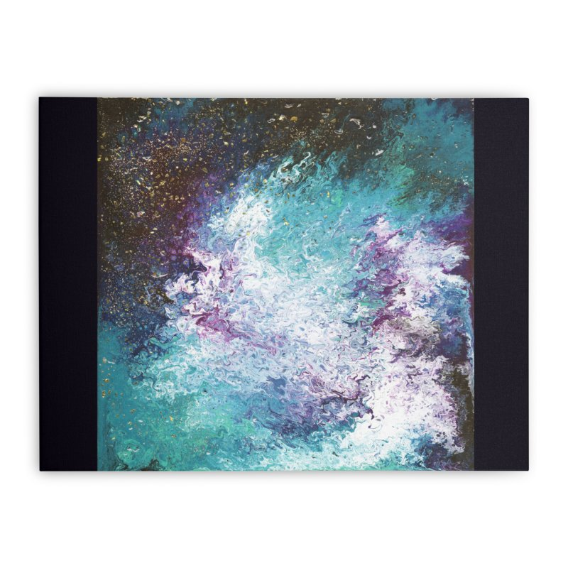 Galaxy Home Stretched Canvas by JordanaHeney Illustration