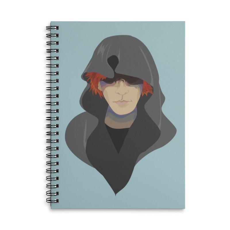 Sneak Thief Accessories Lined Spiral Notebook by JordanaHeney Illustration