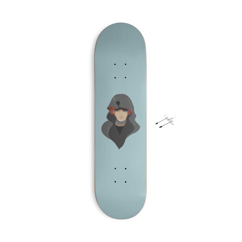 Sneak Thief Accessories With Hanging Hardware Skateboard by JordanaHeney Illustration