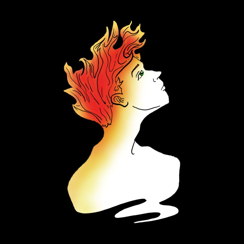 Fire Within Women's V-Neck by JordanaHeney Illustration