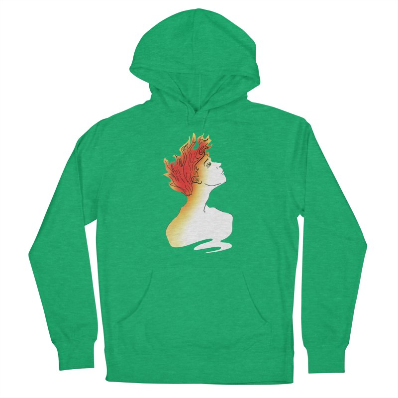 Fire Within Men's French Terry Pullover Hoody by JordanaHeney Illustration