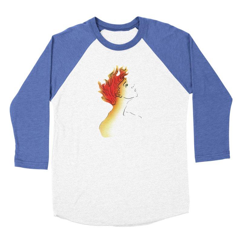 Fire Within Men's Baseball Triblend Longsleeve T-Shirt by JordanaHeney Illustration